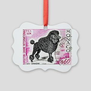 1975 Monaco Dog Show Poodle Stamp Picture Ornament