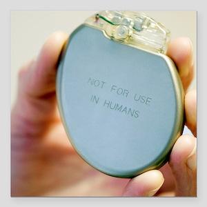 "Heart pacemaker demonstr Square Car Magnet 3"" x 3"""