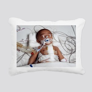 Heart surgery patient Rectangular Canvas Pillow