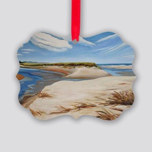 Drake Island Beach, Wells, Maine  Picture Ornament