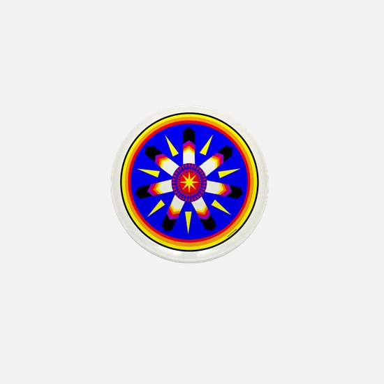 EAGLE FEATHER MEDALLION Mini Button