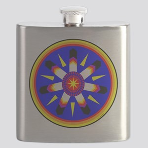 EAGLE FEATHER MEDALLION Flask