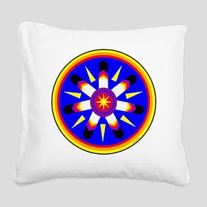 EAGLE FEATHER MEDALLION Square Canvas Pillow