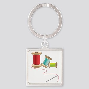 Thread and Needle Keychains