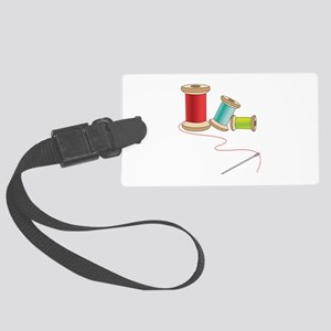 Thread and Needle Luggage Tag