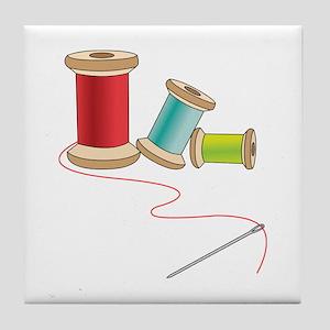 Thread and Needle Tile Coaster