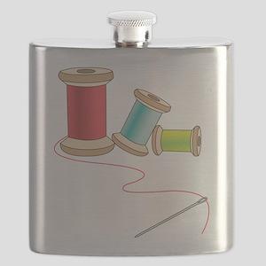 Thread and Needle Flask