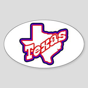 Sporty Texas Oval Sticker