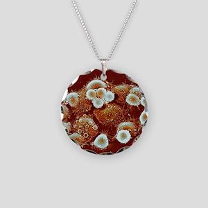 HeLa cells, SEM Necklace Circle Charm