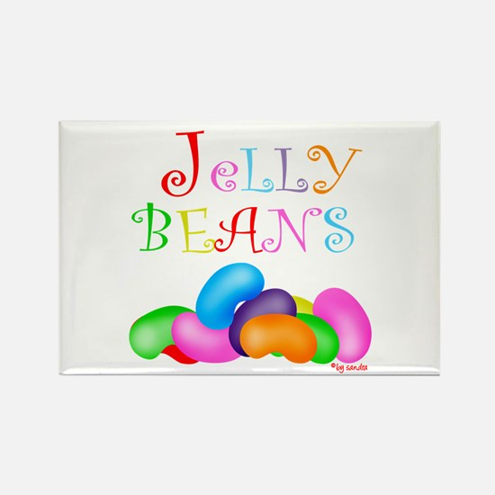 Colorful Jelly Beans Rectangle Magnet