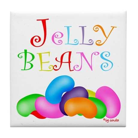 Colorful Jelly Beans Tile Coaster