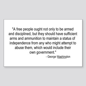 Washington: A Free People Rectangle Sticker