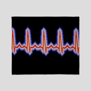 Heartbeat trace Throw Blanket