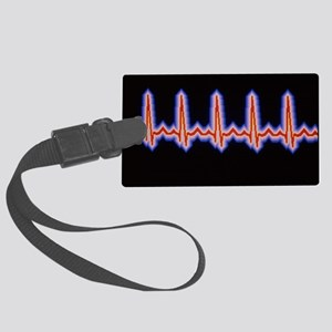 Heartbeat trace Large Luggage Tag
