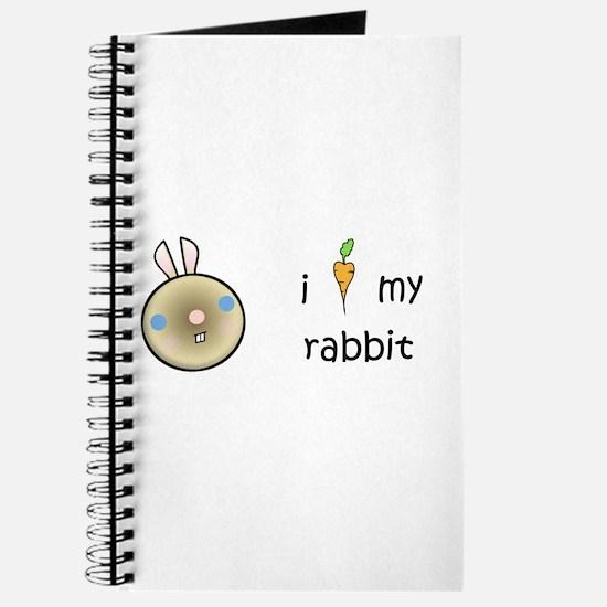 I Love My Rabbit (Sable) Journal