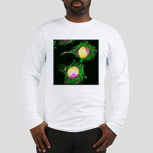 HeLa cells, light micrograph Long Sleeve T-Shirt