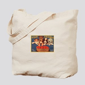 Four Friends Fruit Crate Tote Bag