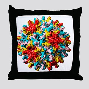 Hepatitis B virus particle Throw Pillow