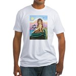 Mermaid and 3 Dolphins Fitted T-Shirt