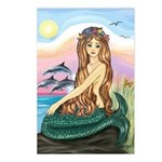 Mermaid and 3 Dolphins Postcards (Package of 8)