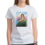 Mermaid and 3 Dolphins Women's T-Shirt