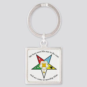 Eastern Star Matthew 2:2 Square Keychain