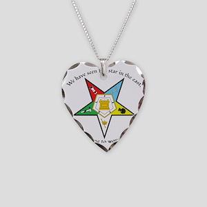 Eastern Star Matthew 2:2 Necklace Heart Charm