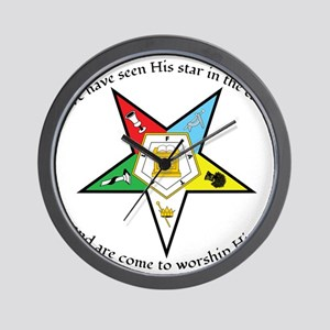 Eastern Star Matthew 2:2 Wall Clock