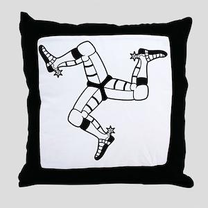 Isle of Man (Triskele) Throw Pillow