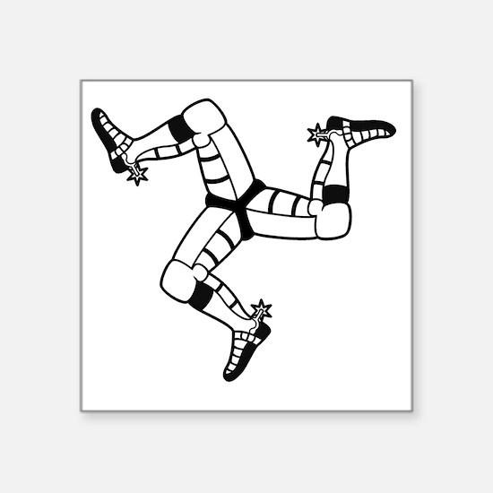 "Isle of Man (Triskele) Square Sticker 3"" x 3"""