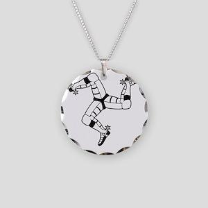 Isle of Man (Triskele) Necklace Circle Charm