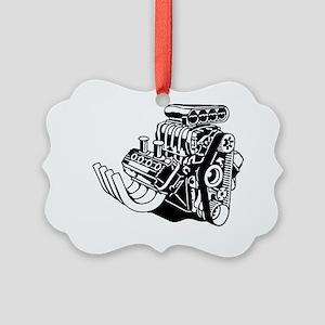 Hemi Hotrod Engine Picture Ornament