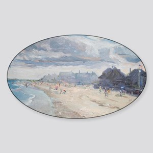 Drakes Island Beach Houses, Wells,  Sticker (Oval)