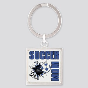 Soccer Mom Square Keychain