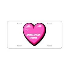 I Love My Andalusian Horse Aluminum License Plate