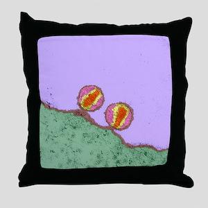 HIV viruses, TEM Throw Pillow