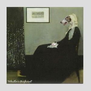 Whistelr's Greyhound Tile Coaster