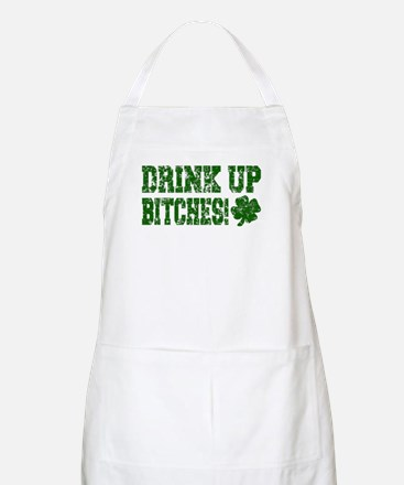 Drink Up Bitches Distressed BBQ Apron