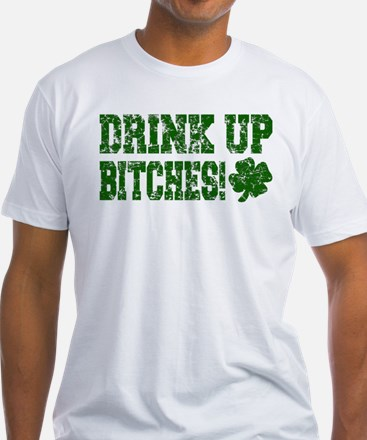 Drink Up Bitches Distressed Shirt