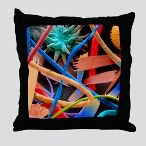 Household dust Throw Pillow