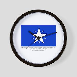 Texas Flag with Declaration Wall Clock