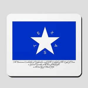 Texas Flag with Declaration Mousepad