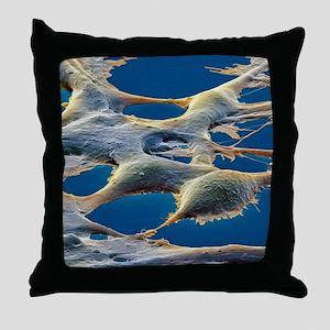 Human embryonic kidney cells, SEM Throw Pillow