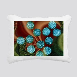 Human papilloma viruses, Rectangular Canvas Pillow