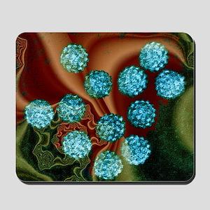 Human papilloma viruses, TEM Mousepad