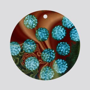 Human papilloma viruses, TEM Round Ornament
