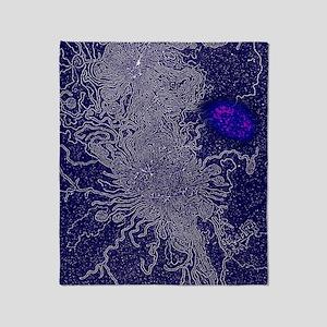 Human DNA and nucleus, TEM Throw Blanket