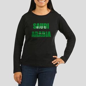 Saudi Arabia Women's Long Sleeve Dark T-Shirt