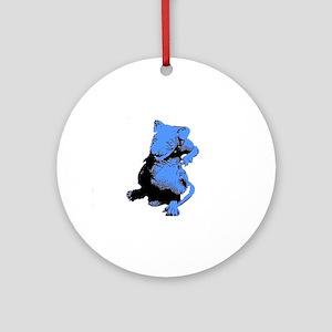 Blue Rat Ornament (Round)