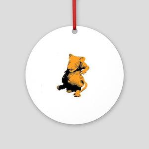 Orange Rat Ornament (Round)